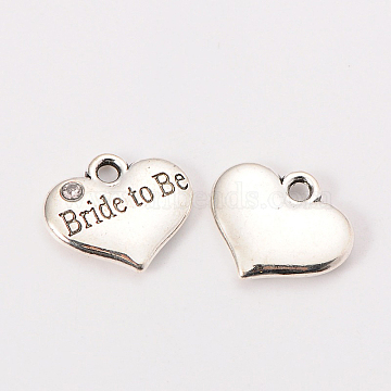 Antique Silver Heart Alloy Charms