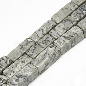 Natural Netstone Beads Strands, Cuboid, 20~21x8~8.5x8~8.5mm, Hole: 1mm; about 19pcs/strand, 15.5inches(G-S300-66-8x20mm)