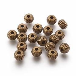Perles de style tibétain, Perles en alliage, sans plomb et sans cadmium, rondelle, couleur de bronze antique, 7 mm de diamètre, Longueur 5mm, Trou: 1mm(X-MLF0883Y)