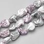 15mm Gris Pépite Perle De Coquillage Perles(X-PEAR-Q008-12B)