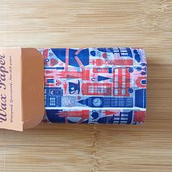Papier d'emballage de gâteau alimentaire jetable, papier sulfurisé, style russe, colorées, 25x21.8cm; 50pcs / boîte(DIY-L009-A06)