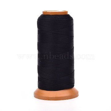 Polyester Threads, for Jewelry Making, Black, 0.2mm, about 1093.61 yards(1000m)/roll(NWIR-G018-B-01)