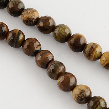 4mm Peru Round Tiger Eye Beads