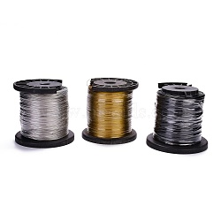 (Defective Closeout Sale), Steel Wire, with Defective Spool, Random Single Color or Random Mixed Color, 0.3~1mm, 1kg/roll(TWIR-XCP0001-01)
