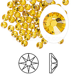 Austrian Crystal Rhinestone Cabochons, Crystal Passions, Foil Back, Xirius Rose, 2088, 292_Sunflower, 4.6~4.8mm(X-2088-SS20-292(F))