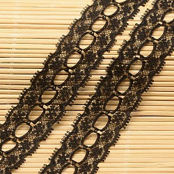 """Ruban en nylon avec garniture en dentelle pour la fabrication de bijoux, noir, 1"""" (26 mm); environ 200yards / rouleau (182.88m / rouleau)(ORIB-F001-50)"""