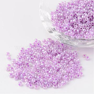 3mm Plum Glass Beads
