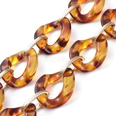 Personalized Aluminium & Acrylic Chain Necklaces(X-NJEW-JN02883)-3