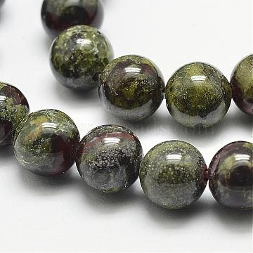 6mm Round Dragon Blood Beads