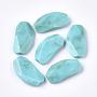 Acrylic Beads, Imitation Gemstone, Faceted, Pea, Dark Turquoise, 31x16.5x6mm, Hole: 1.2mm