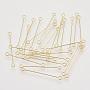 3cm Golden Iron Eye Pins(X-IFIN-S126-01D-G)