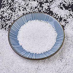 Miyuki® délicat perles, Perles de rocaille japonais, 11/0, (db0201) ceylon perle blanche, 1x1.5~1.8mm, trou: 0.8 mm; environ 2000 pcs / 10 g(X-SEED-J020-DB0201)