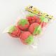 Strawberry Round Sphere Sponge DIY Hair Roller(OHAR-R095-48)-1
