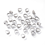 316 Stainless Steel Ice Pick Pinch Bails, Stainless Steel Color, 6.5x4.5x3mm