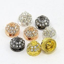 Perles strass en alliage de rivet, Grade a, cône, couleur mixte, 8x8mm, Trou: 1mm(X-RB-I027-8x8mm-01M)