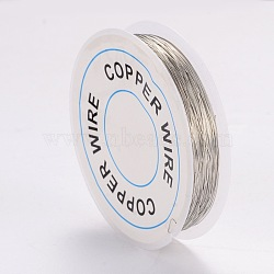 Copper Jewelry Wire, Silver, 0.3mm; 26m/roll(X-CWIR-CW0.3mm-06)