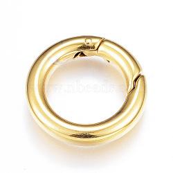 Anneau de porte à ressort en 304 acier inoxydable, o bagues, anneau, or, 20.5x3.5mm(X-STAS-G104-04G)