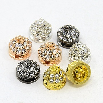 Mixed Color Cone Alloy + Rhinestone Beads