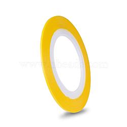 Autocollants pour lignes à laser ultra-minces, pour la conception d'art d'ongle, or, 0.8~1mm, 20m/rouleau(MRMJ-K006-03-06)