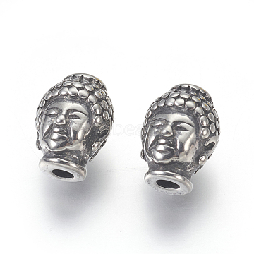 Antique Silver Human Stainless Steel Beads