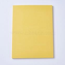Gravure bricolage timbre en caoutchouc sculpté à la main, brique en caoutchouc à la main, rectangle, jaune, 150x200x7mm(DIY-WH0116-06B)