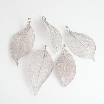 Leaf Iron+Other Material Big Pendants
