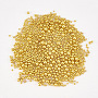 Iron Cabochons, Nail Art Decoration Accessories, Mixed Sizes, Round, Golden, 1~2mm