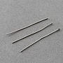 304 Stainless Steel Flat Head Pins, Stainless Steel Color, 35x0.7mm