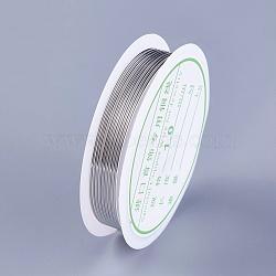 Fil de cuivre, platine, 18 jauge, 1 mm; 1.5 m / rouleau(YS-TAC0001-01C-P)
