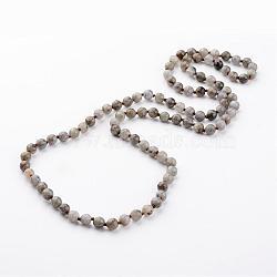 """Натуральный лабрадорита ожерелья, бисера ожерелья, граненые, 35.8""""(NJEW-D264-02)"""