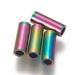 Perles de tube en 304 acier inoxydable, multicolore, 8x3mm, Trou: 2mm(STAS-L216-23D-M)