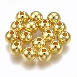 CCB perles en plastique, rond, or, 5.5~6x5mm, Trou: 1.8mm(X-CCB-S160-245-6mm)