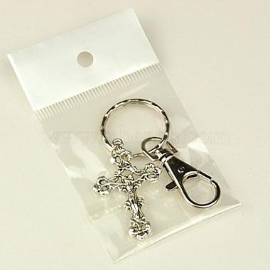 Tibetan Style Crucifix Cross Keychain(KEYC-JKC0009-13)-3