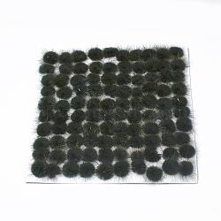 Décoration de boule de fourrure de vison faux, boule de pom pom, pour bricolage, darkolivegreen, 2~2.5 cm(X-FIND-S267-2.5cm-04)