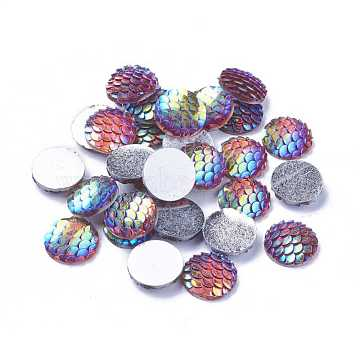 12mm Colorful Flat Round Resin Cabochons