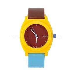 Trendy montres à quartz de haute qualité, jaune, 240x20 mm; tête de montre: 48x43x12 mm(WACH-N018-01)
