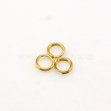 Golden Round Brass Split Rings