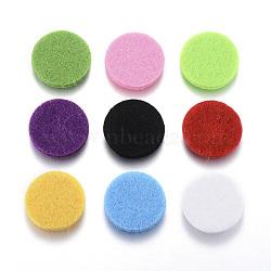 Coussinets de parfums de fibres, Tampons de relevage des diffuseurs d'huiles essentielles, plat rond, couleur mixte, 22x3mm(DIY-G002-01)