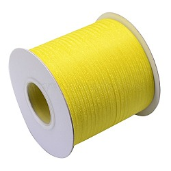 "Ruban d'organza polyester, LemonChiffon, 1/8"" (3 mm); 800yards / roll (731.52m / roll)(ORIB-L001-01-640)"
