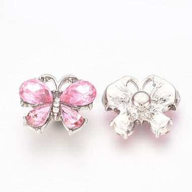 Alloy Rhinestone Snap Buttons(SNAP-T001-10A)-2