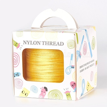 Nylon Thread, Champagne Yellow, 1.5mm, about 49.21 yards(45m)/roll(NWIR-JP0012-1.5mm-540)