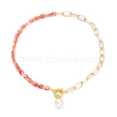 Natural Baroque Pearl Keshi Pearl Pendant Necklaces(NJEW-JN03149)-2