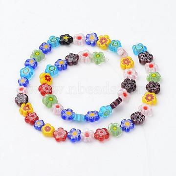 8mm Colorful Flower Millefiori Lampwork Beads