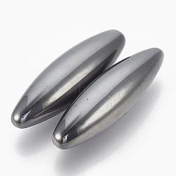 магнитные гематит синтетические шарики, нет отверстий / незавершенного, рис, 70x25~26 mm(G-T094-13)