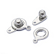 316 Surgical Stainless Steel Snap Clasps(STAS-F208-02B-P)-2
