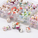 1 Box Ten Color Handmade Printed Porcelain Beads(PORC-X0003-01)-2