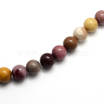 Natural Mookaite Round Beads Strands, 8mm, Hole: 1mm, about 45pcs/strand, 15 inches(X-G-O047-12-8mm)