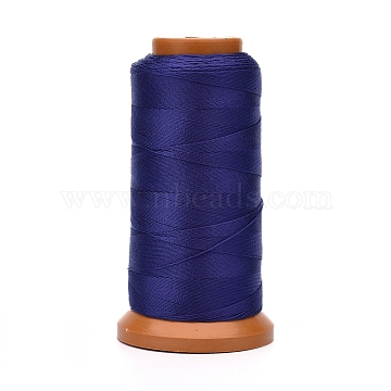 Polyester Threads, for Jewelry Making, Midnight Blue, 0.7mm, about 437.44 yards(400m)/roll(NWIR-G018-E-10)