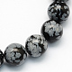 Natural Snowflake Obsidian Round Beads Strands(X-G-S172-10mm)-1