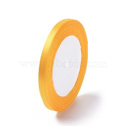 """1/4"""" (6 мм) золотистая сатиновая лента, 25yards / рулон (22.86 м / рулон)(X-RC6mmY016)"""